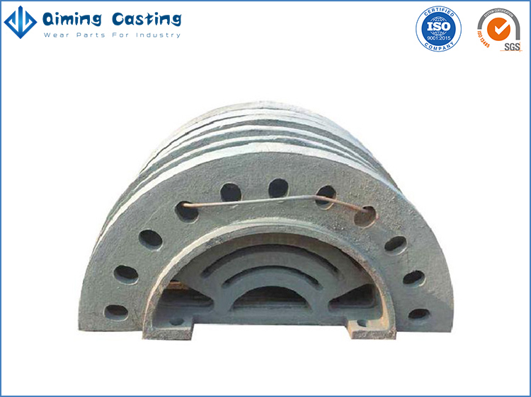 Roll mill liners by Qiming Casting